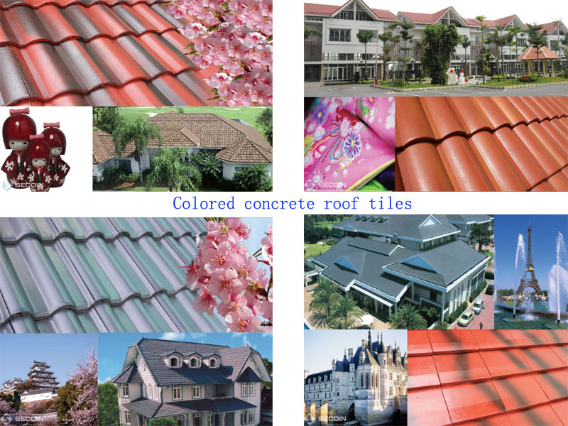 Project case of roof tiles